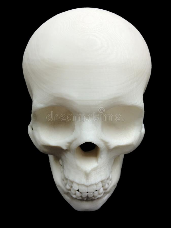 Skull made by 3D Printer with Black Background royalty free stock photo