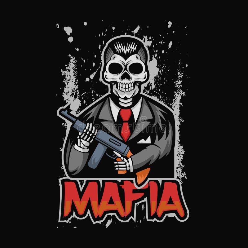 Skull mafia vector illustration design royalty free illustration
