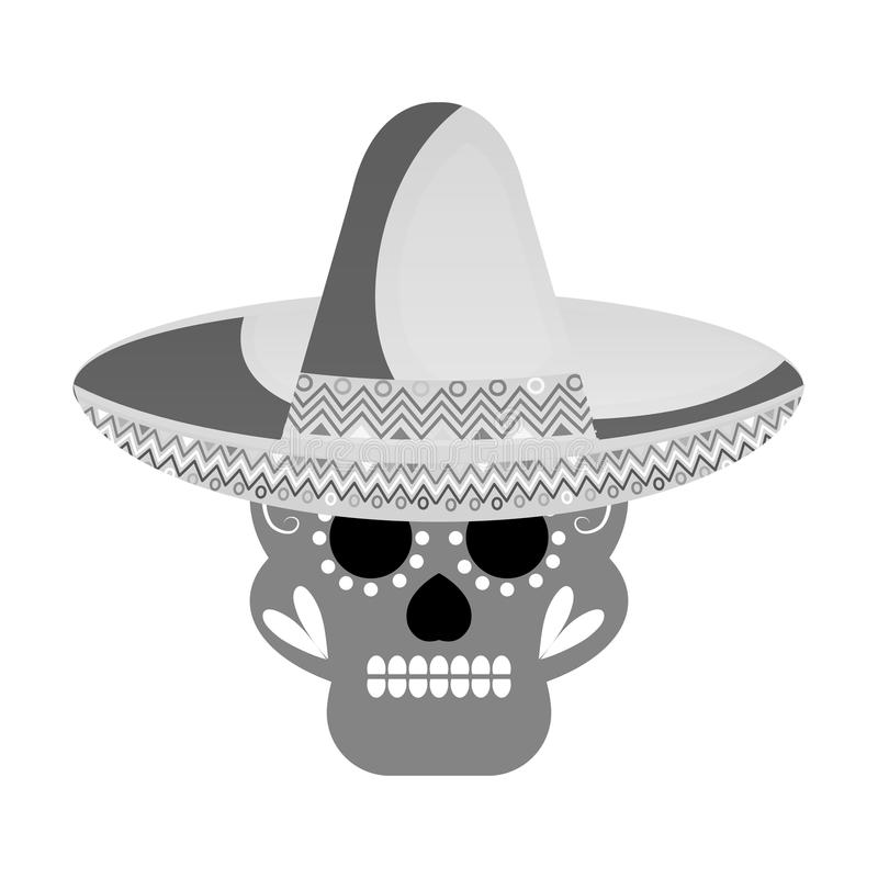 Skull mask mexican culture vector illustration