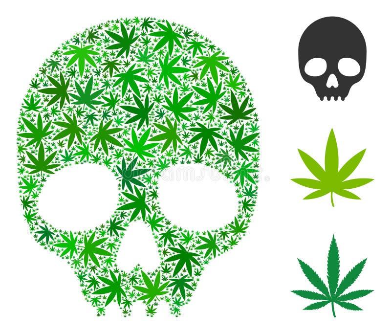 Skull Mosaic Of Marijuana Stock Vector Illustration Of Hemp 120341897