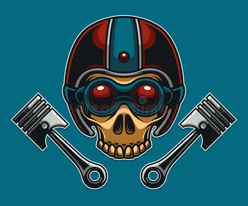 Skull Motorcycle Biker Club royalty free illustration