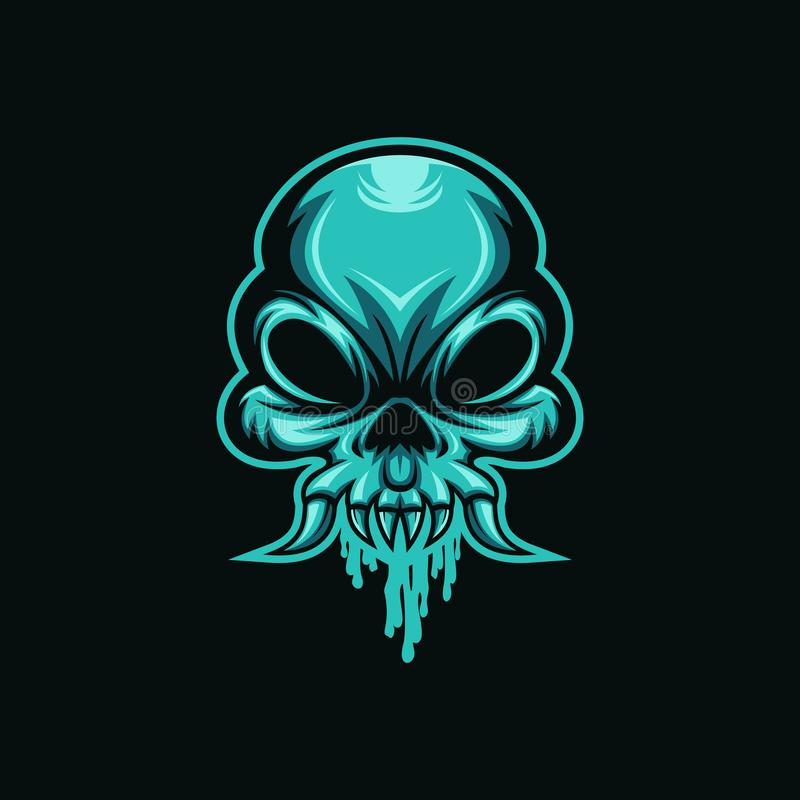 Skull mucus head monster logo vector vector illustration