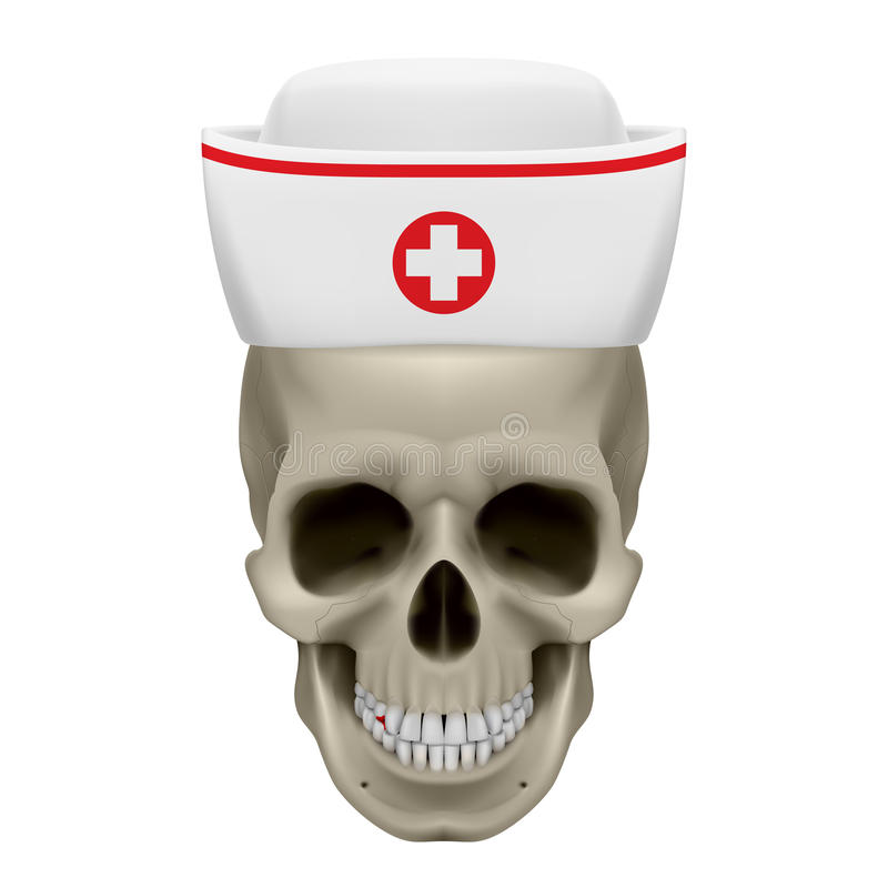 Download Skull in nurse cap stock vector. Image of disease, cranium - 39844976