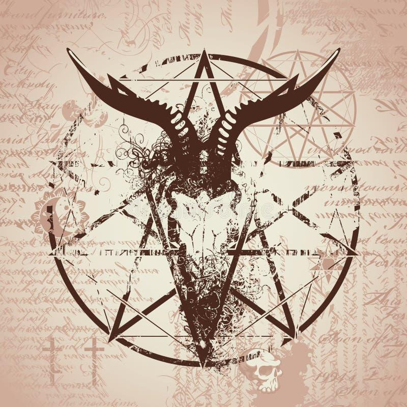 Free Skull Of Goat And Pentagram Stock Image - 78758691