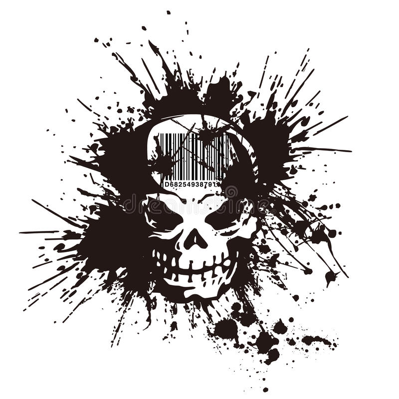 Download Skull and paint, stock vector. Illustration of destruction - 43101561