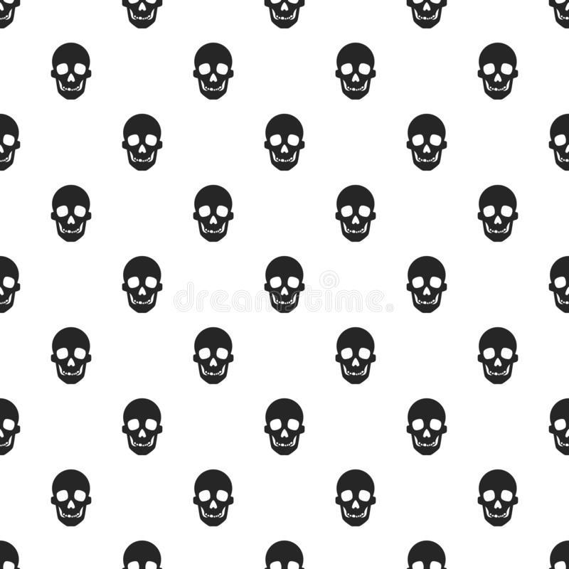 Skull pattern seamless stock illustration