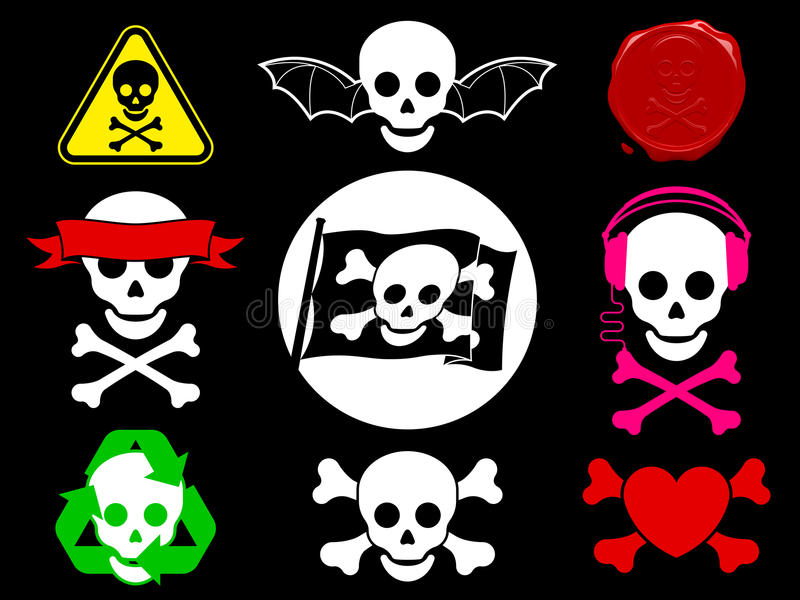 Download Skull Pirate Icon Collection Stock Vector - Illustration: 14355528