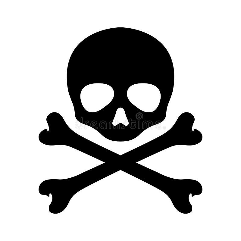 Skull pirate vector crossbones Halloween icon logo graphic symbol illustration. Skull pirate vector crossbones Halloween icon logo ghost graphic symbol stock illustration