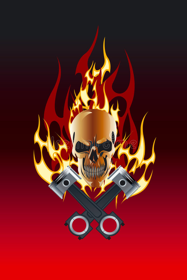 Free Skull Piston Flame Stock Photography - 5860562