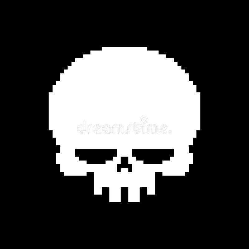 Skull Pixel Art Head Skeleton Pixelated Isolated