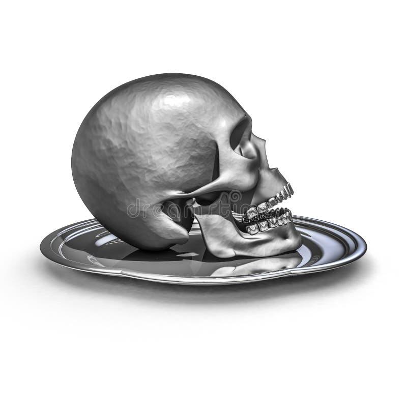 Download Skull Platter Metal Stock Photos - Image: 34633533