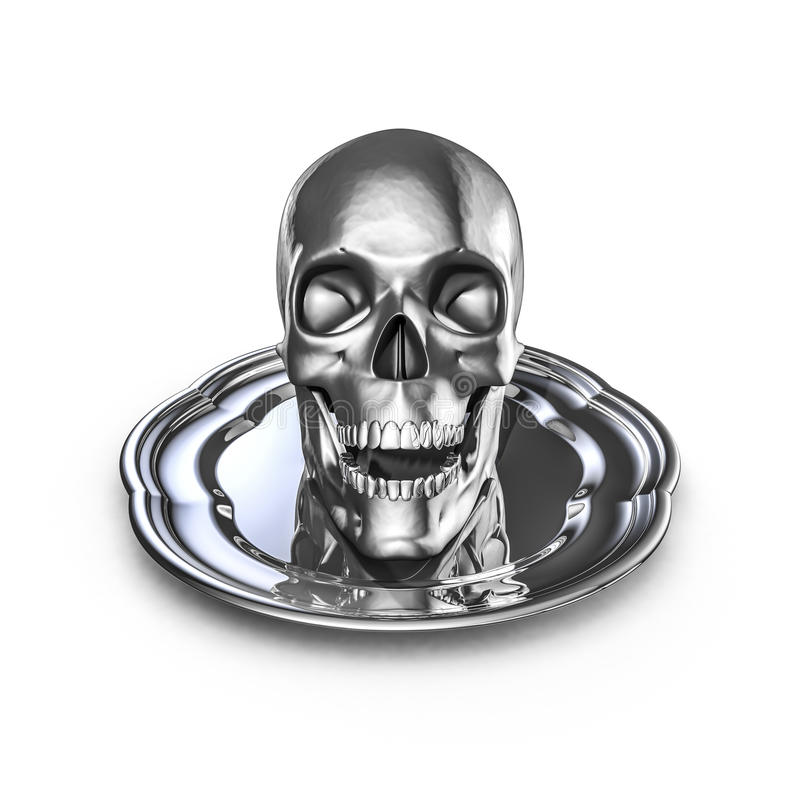 Download Skull platter metal stock illustration. Image of horror - 34633542