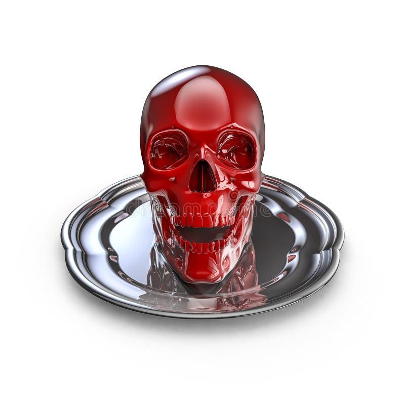 Skull Platter Red Stock Image