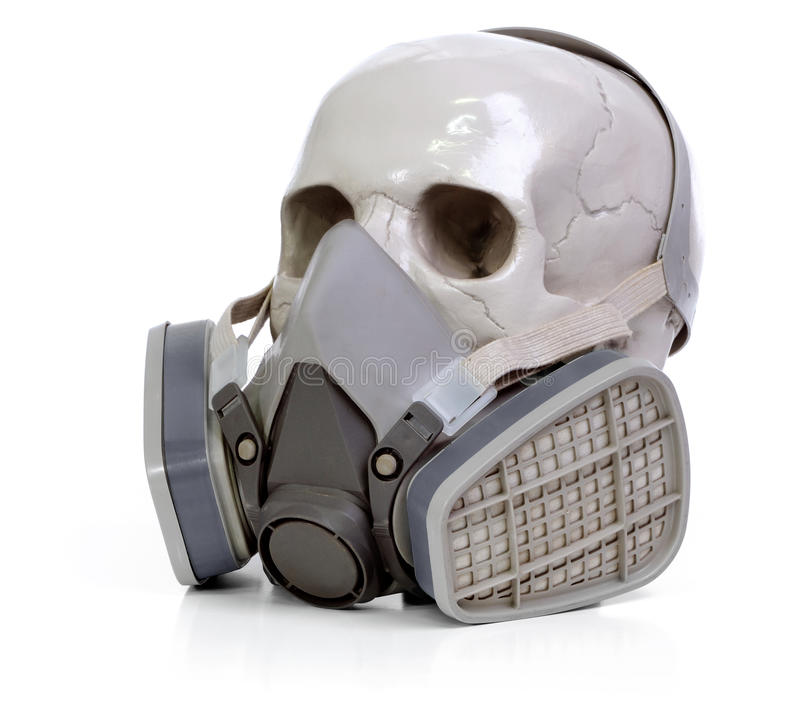 Download Skull and respirator stock illustration. Image of isolated - 17053416