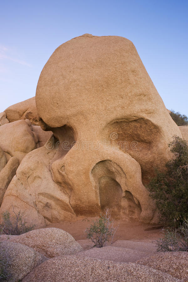 Skull Rock Joshua Tree National Park stock photo