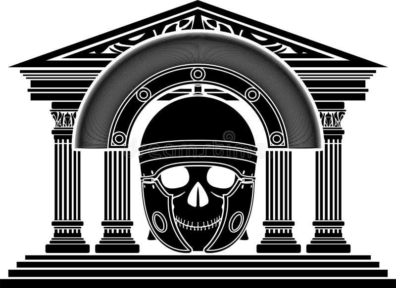 Download Skull of roman centurion stock vector. Image of helmet - 33521686