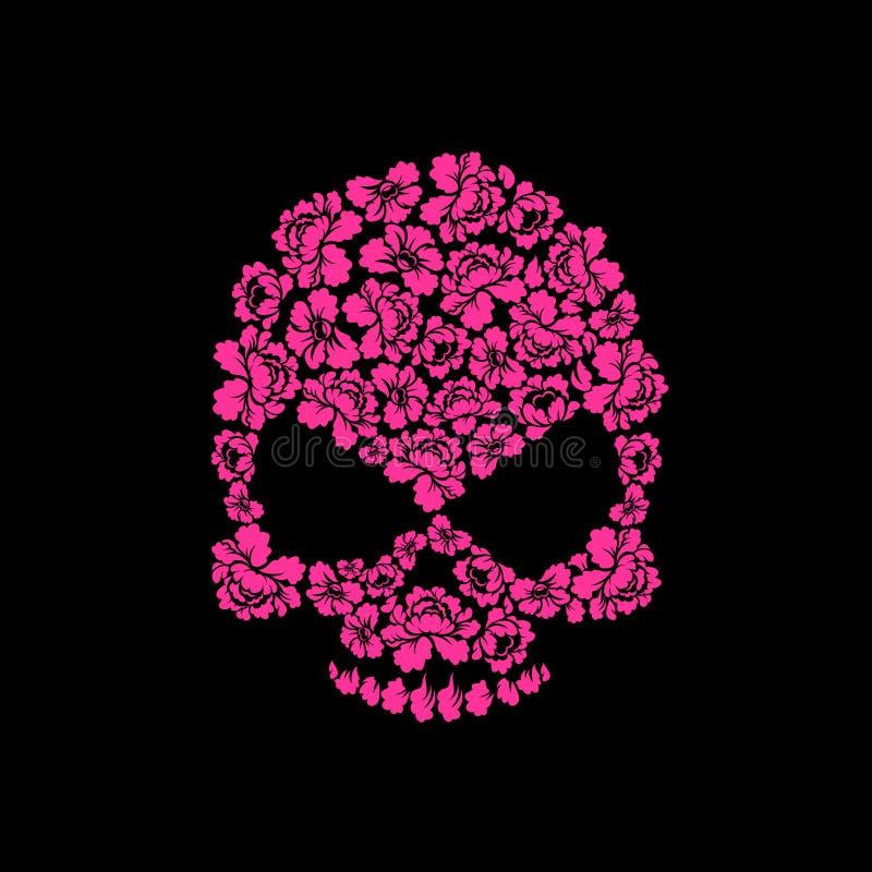 Skull of roses on a black background flower skull man stock vector download skull of roses on a black background flower skull man stock vector mightylinksfo