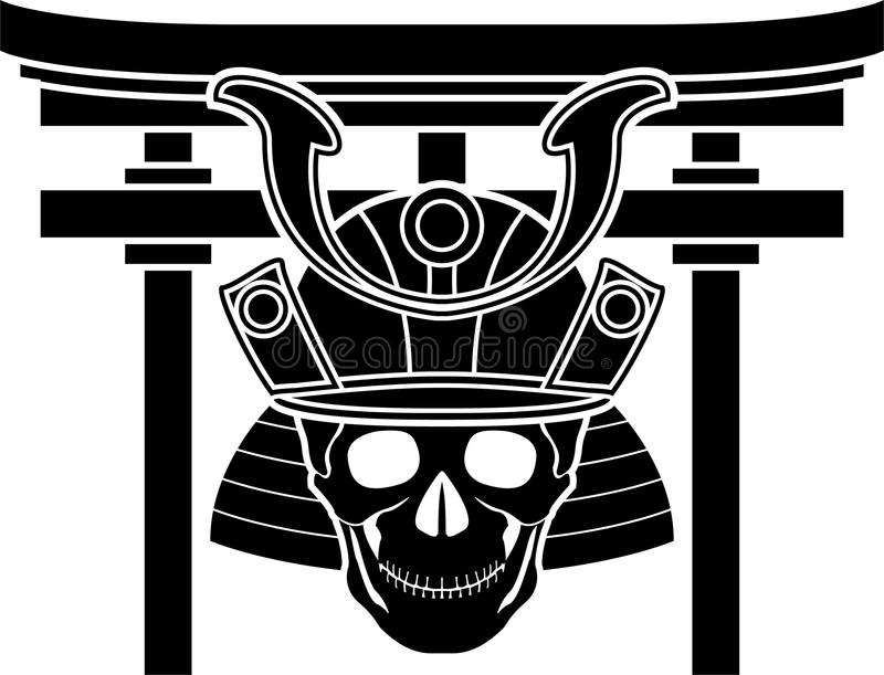 Download Skull Of Samurai And Torii Gate Stock Photography - Image: 33521682