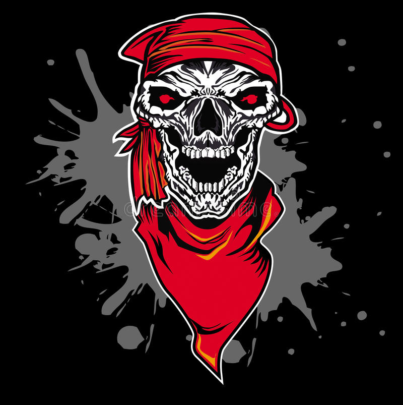Skull scarf vector illustration