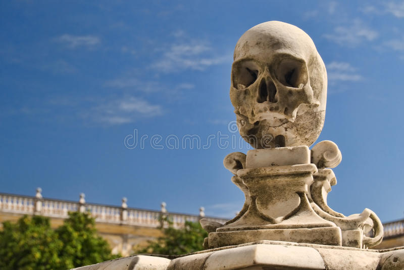 Skull sculpture royalty free stock photos