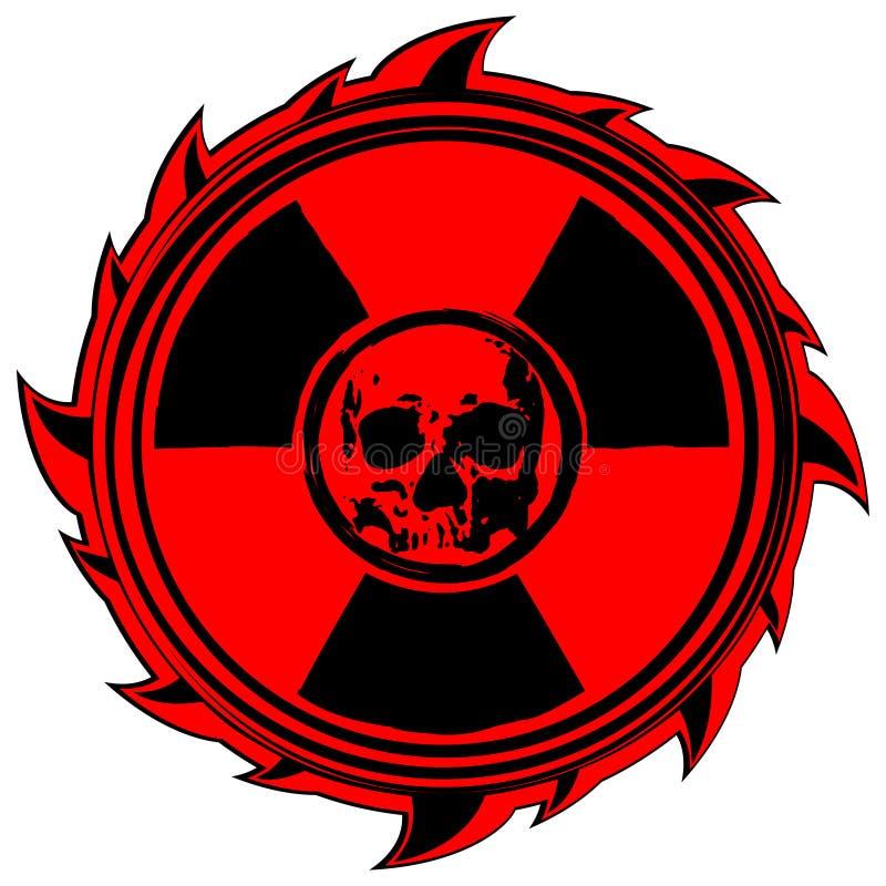 Skull sign radiation royalty free illustration