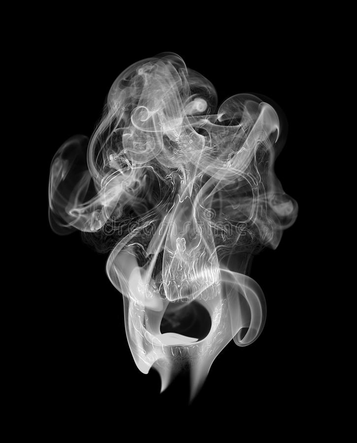 Skull in the smoke royalty free illustration