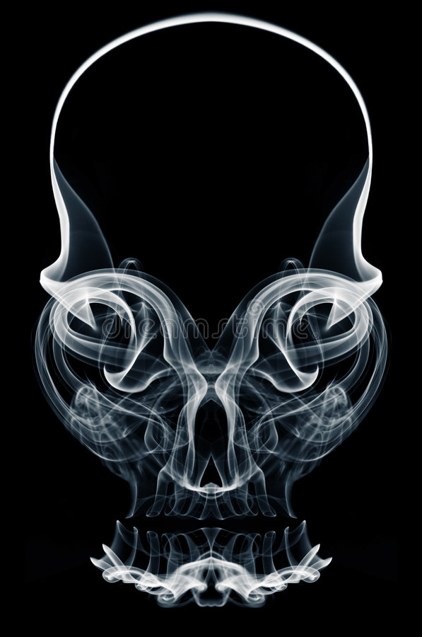 Skull of Smoke royalty free stock photos