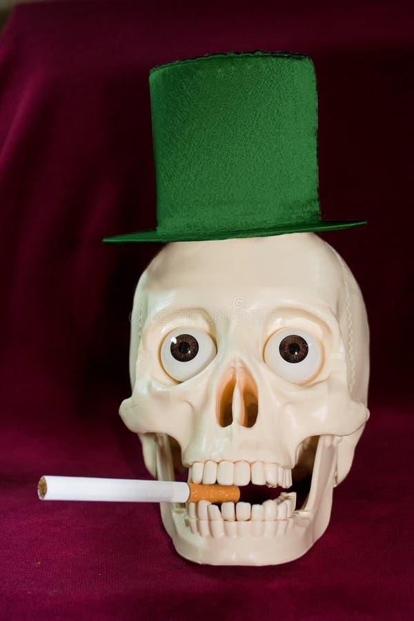 Download Skull smokes a cigarette stock image. Image of evil, cigarette - 13356655