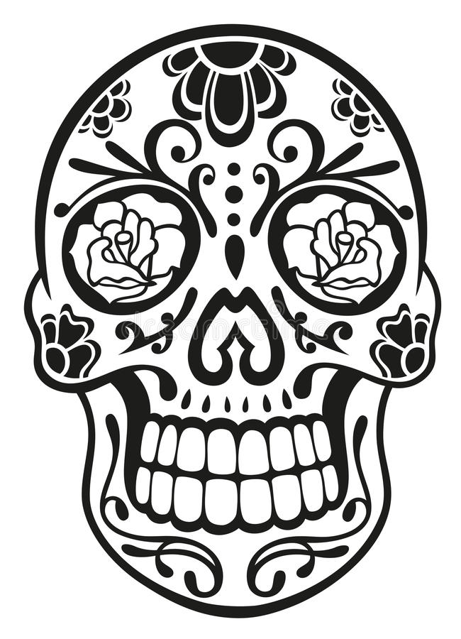 Download Skull, sugar skull stock vector. Image of decorative - 33575249