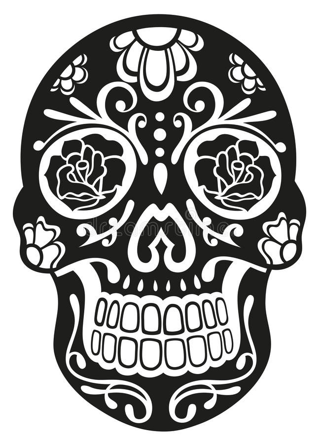 Download Skull, sugar skull stock vector. Image of design, folklore - 33575295