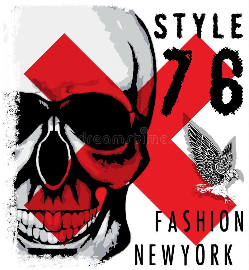 Skull T shirt Graphic Design royalty free illustration