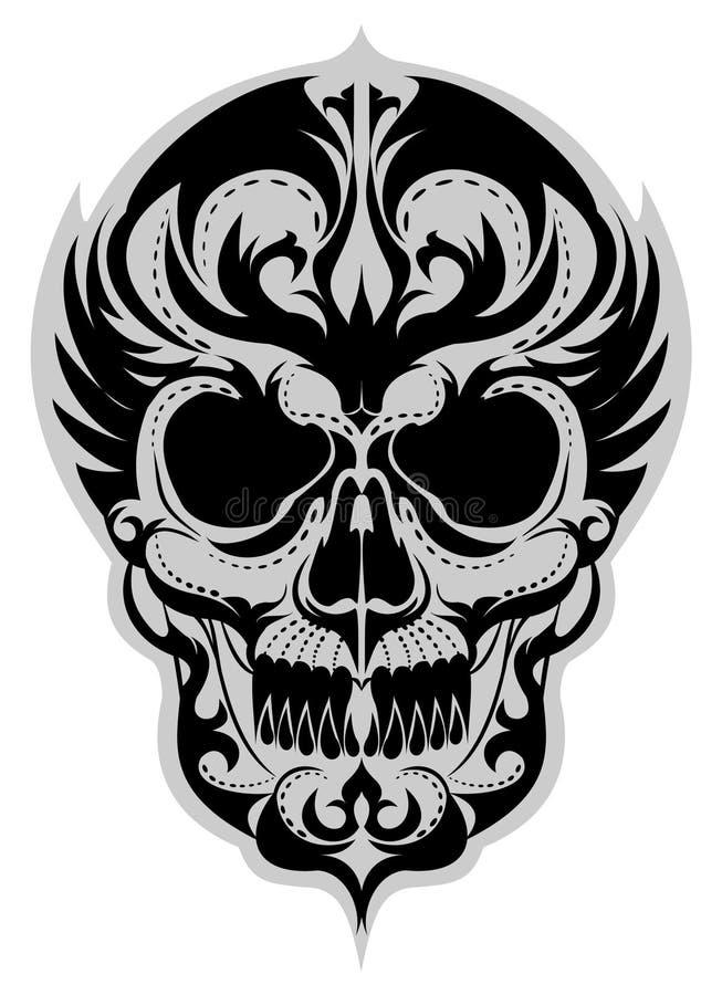 Skull_tattoo_art vector illustratie