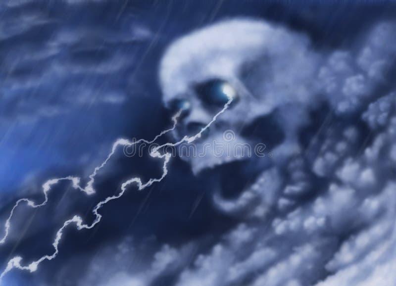Download Skull stock illustration. Illustration of damage, night - 32052673