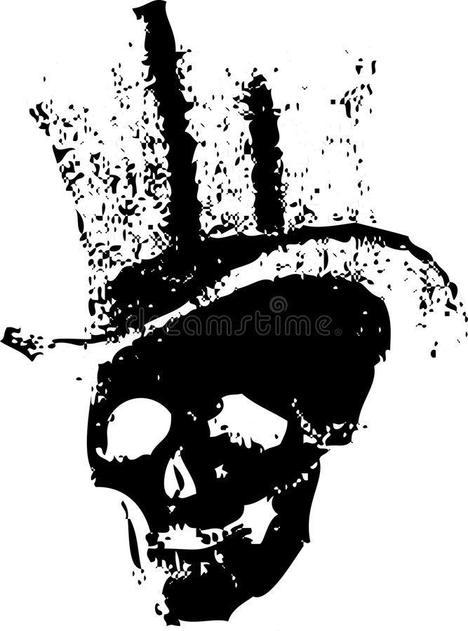 Download Skull and Top hat stock vector. Image of illustration - 9356468