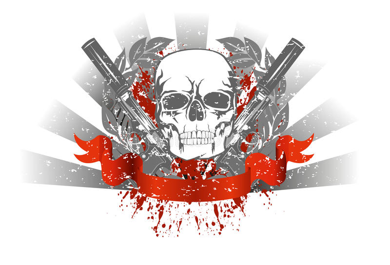Skull with two pistols stock vector illustration of murder 18375480 download skull with two pistols stock vector illustration of murder 18375480 voltagebd Gallery