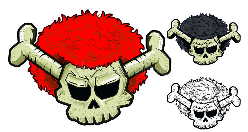Download Skull with wig stock illustration. Image of illustration - 29116701