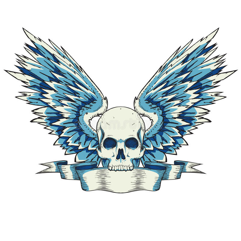 Download Skull with wings stock vector. Image of anger, abstract - 14771800
