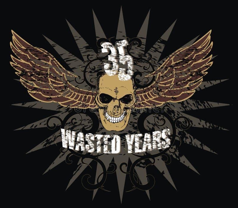 Download Skull and wings stock illustration. Illustration of shirt - 9488083