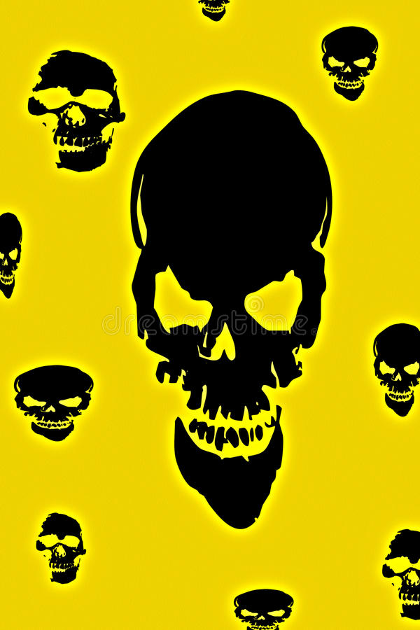 Download Skulls stock illustration. Image of evil, halloween, background - 22757941