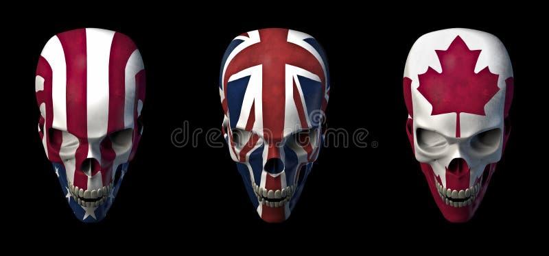 Skulls flags