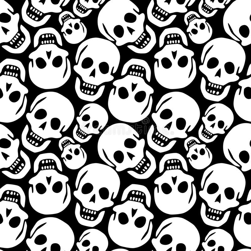 Download Skulls pattern stock vector. Image of black, gothic, abstract - 21414719