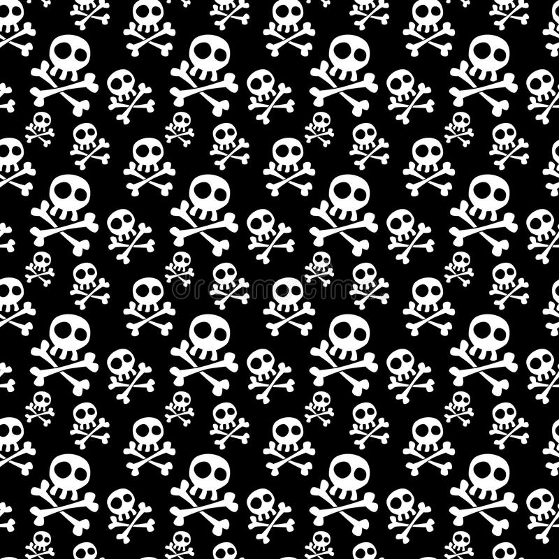Skulls Seamless Background stock illustration
