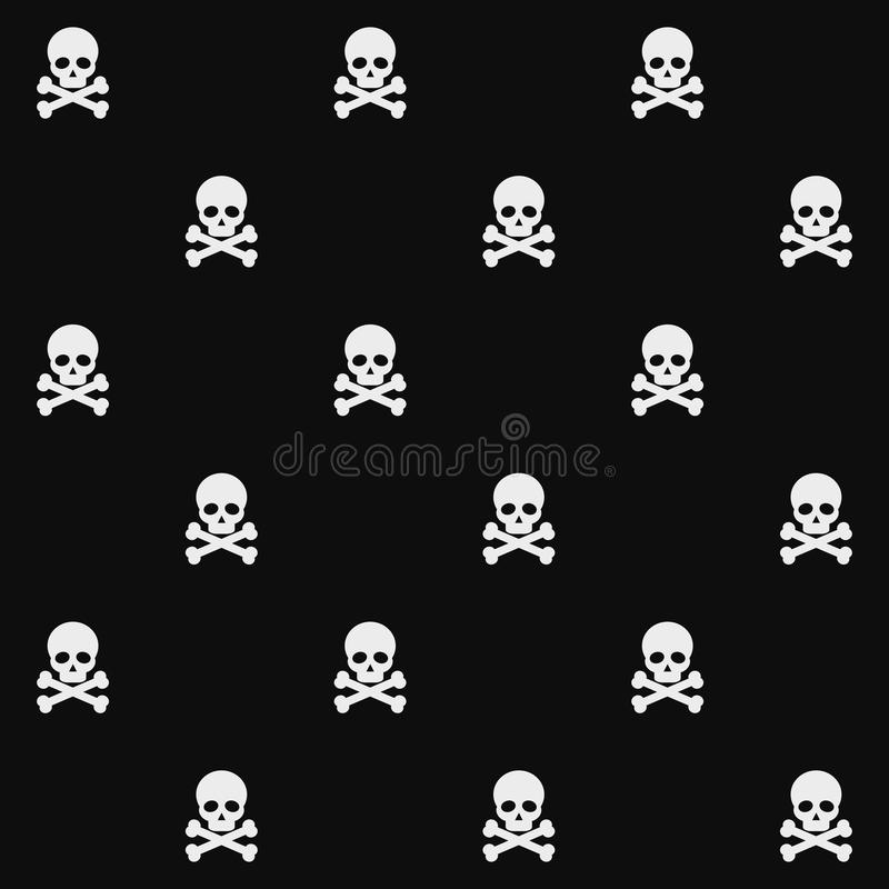 Skulls seamless pattern stock illustration