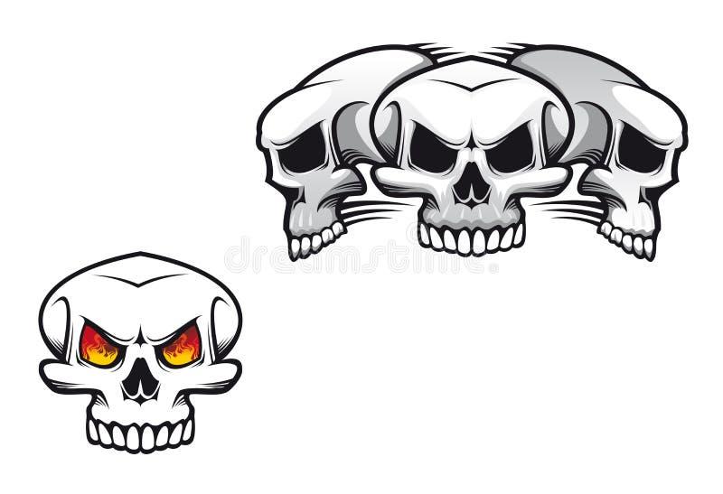 Skulls Tattoo Stock Image