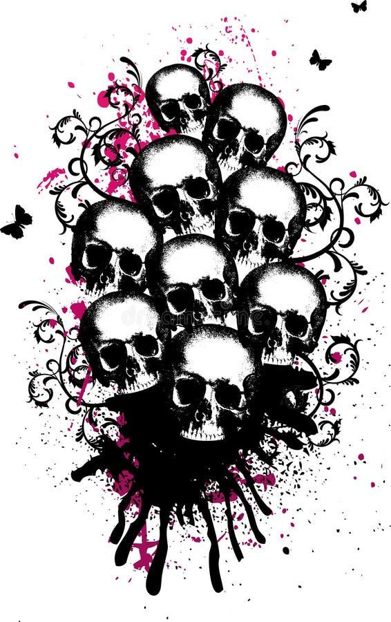 Free Skulls Vector Illustration Stock Photography - 6849192