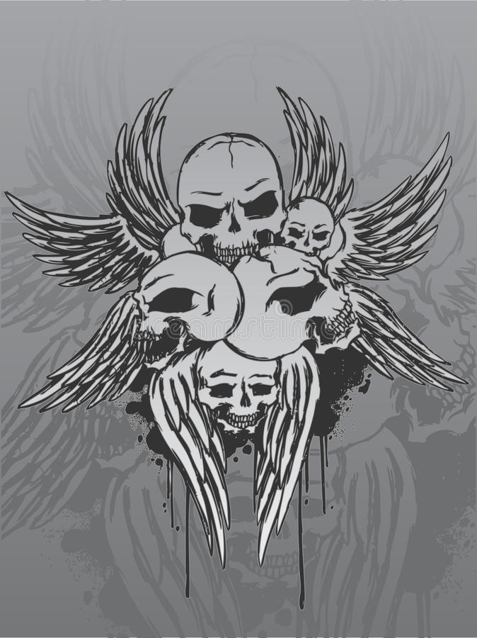 Skulls And Wings Stock Image