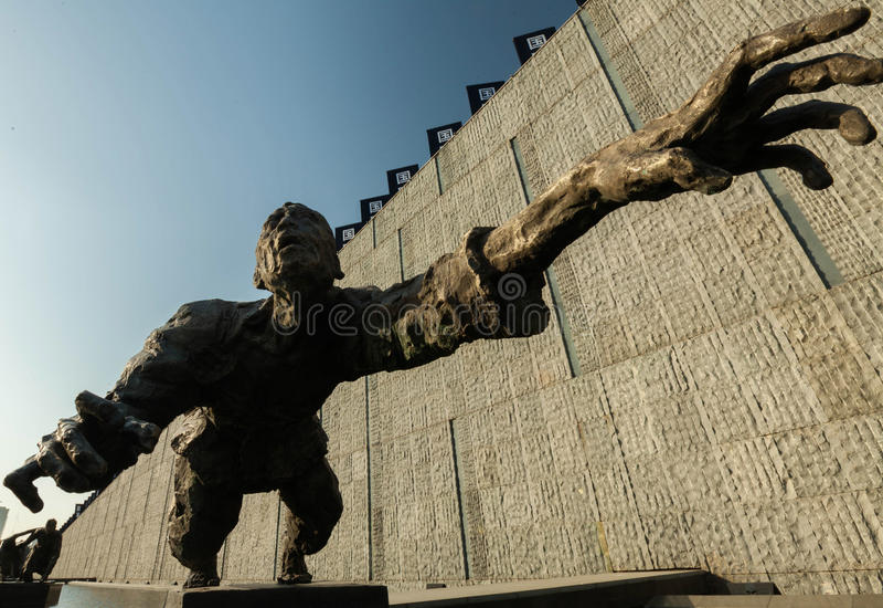 Skulpturüberleben stockbild
