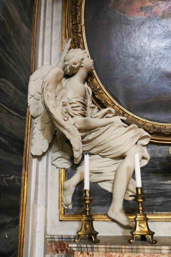 Skulptur av ängeln, Vaticanen royaltyfria bilder