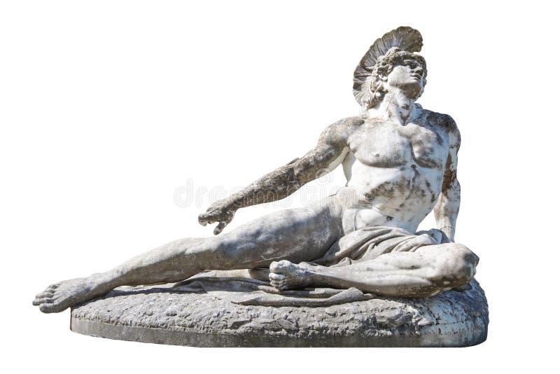 Skulptur av att dö Achilles i Achilleionen/villan Vraila på Co royaltyfria bilder