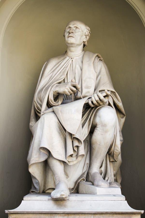 Skulptur av Brunelleschi den stora byggmästaren royaltyfri foto